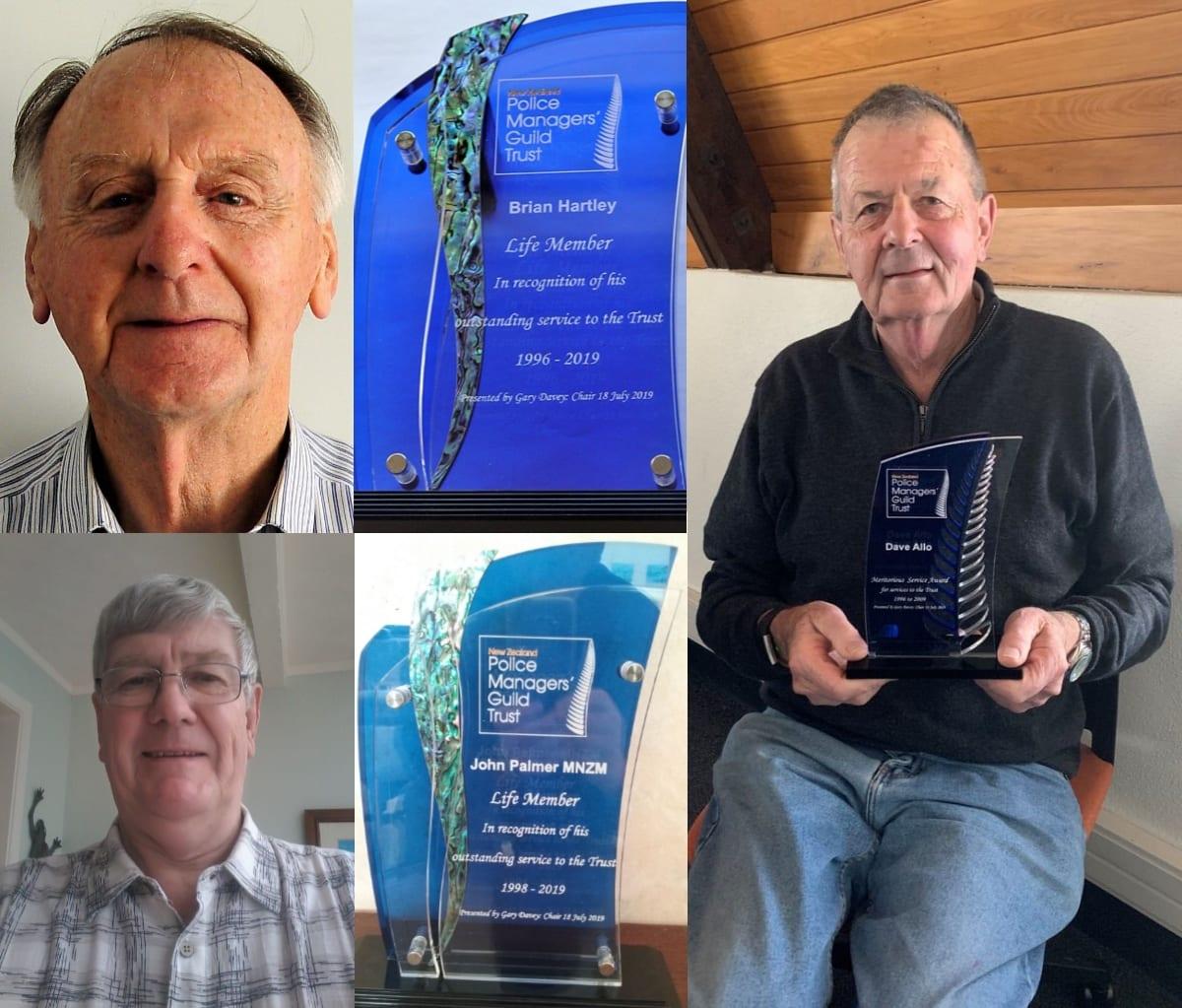 Brian Hartley and John Palmer life membership awards