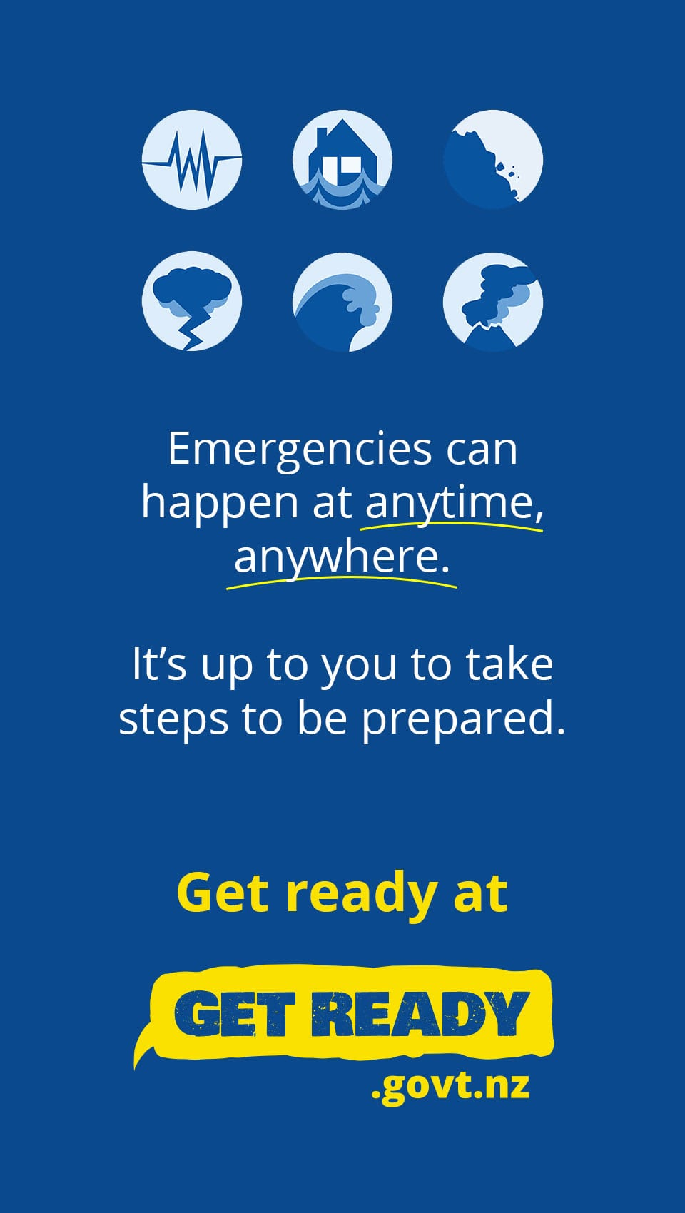 emergencies can happen at anytime, anywhere